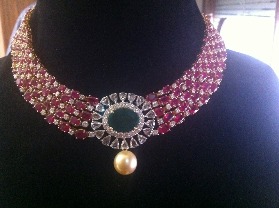 Rose Cut Diamond Choker Necklace