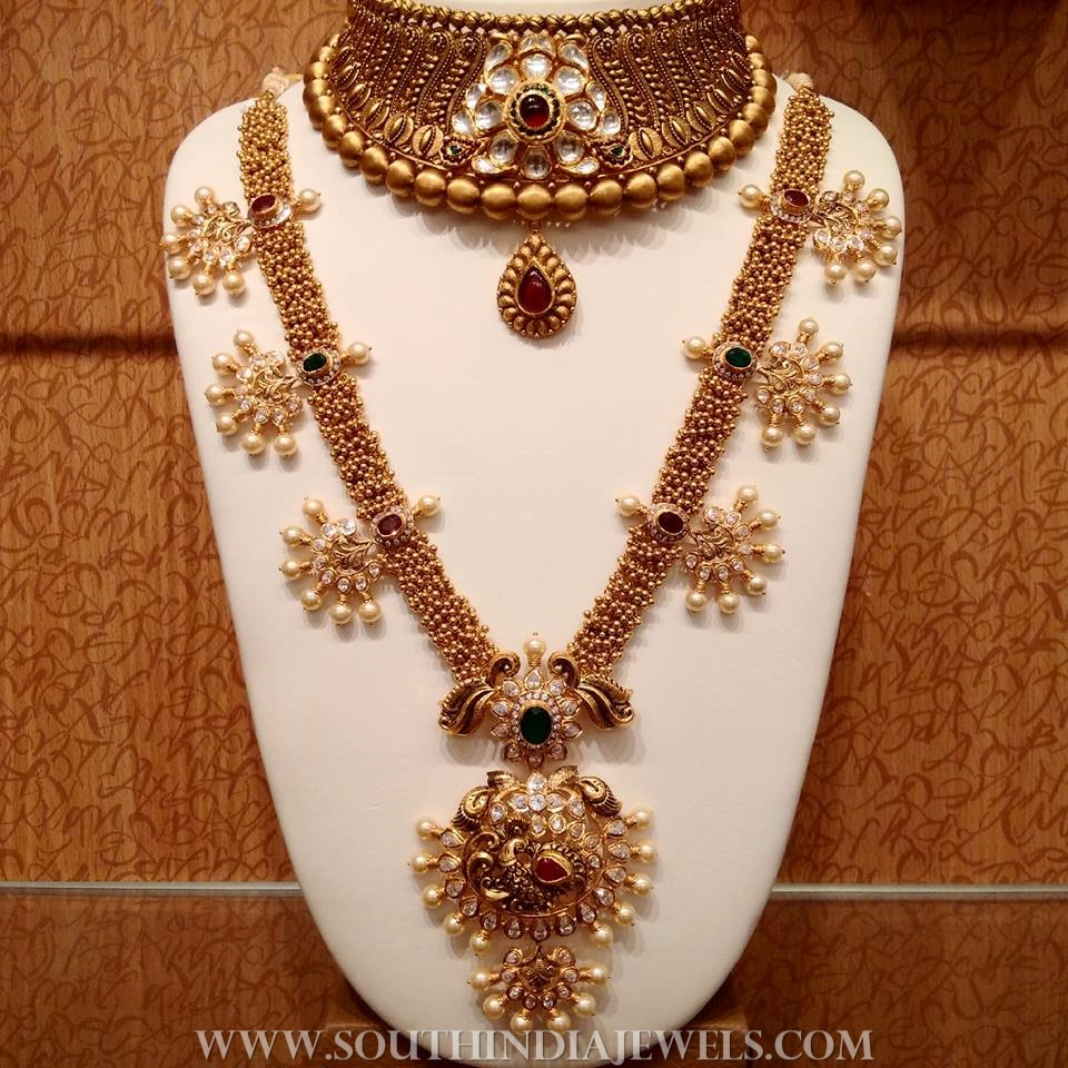 2019 year for lady- Necklace gold designs catalogue