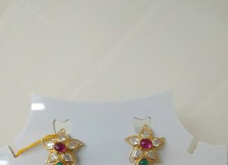 10 Grams Gold Earrings From Pulimamidi Jewellers