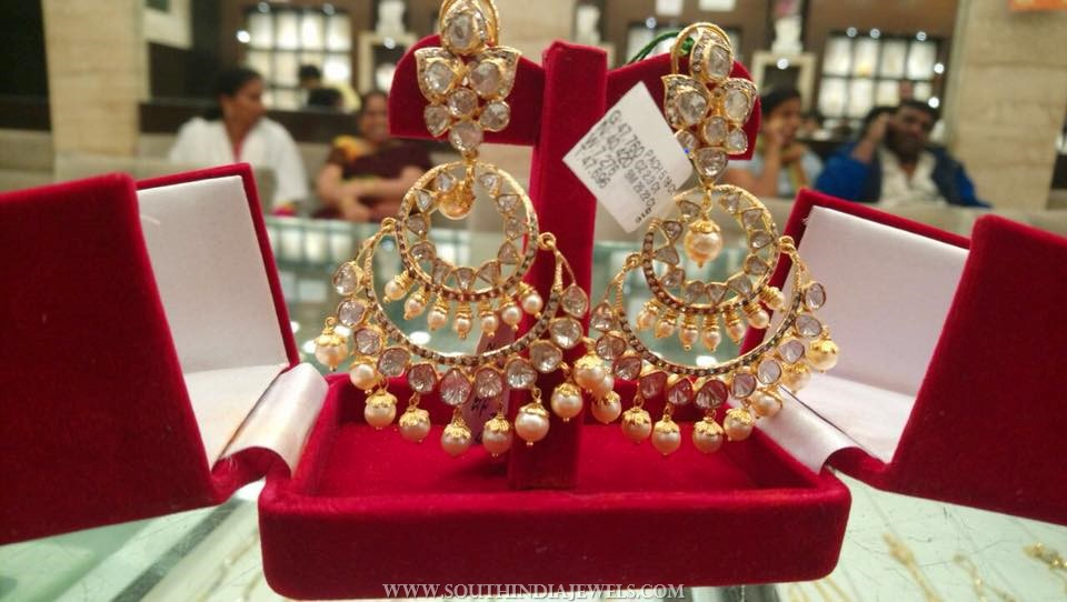 40 Grams Gold Chandbali Earrings Design
