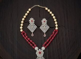 Designer CZ Stone Imitation Necklace