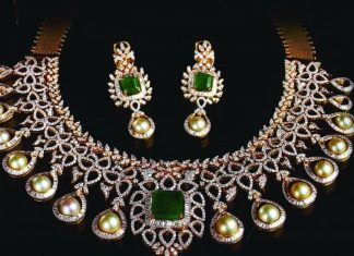 Diamond Emerald Set From Manjula Jewels