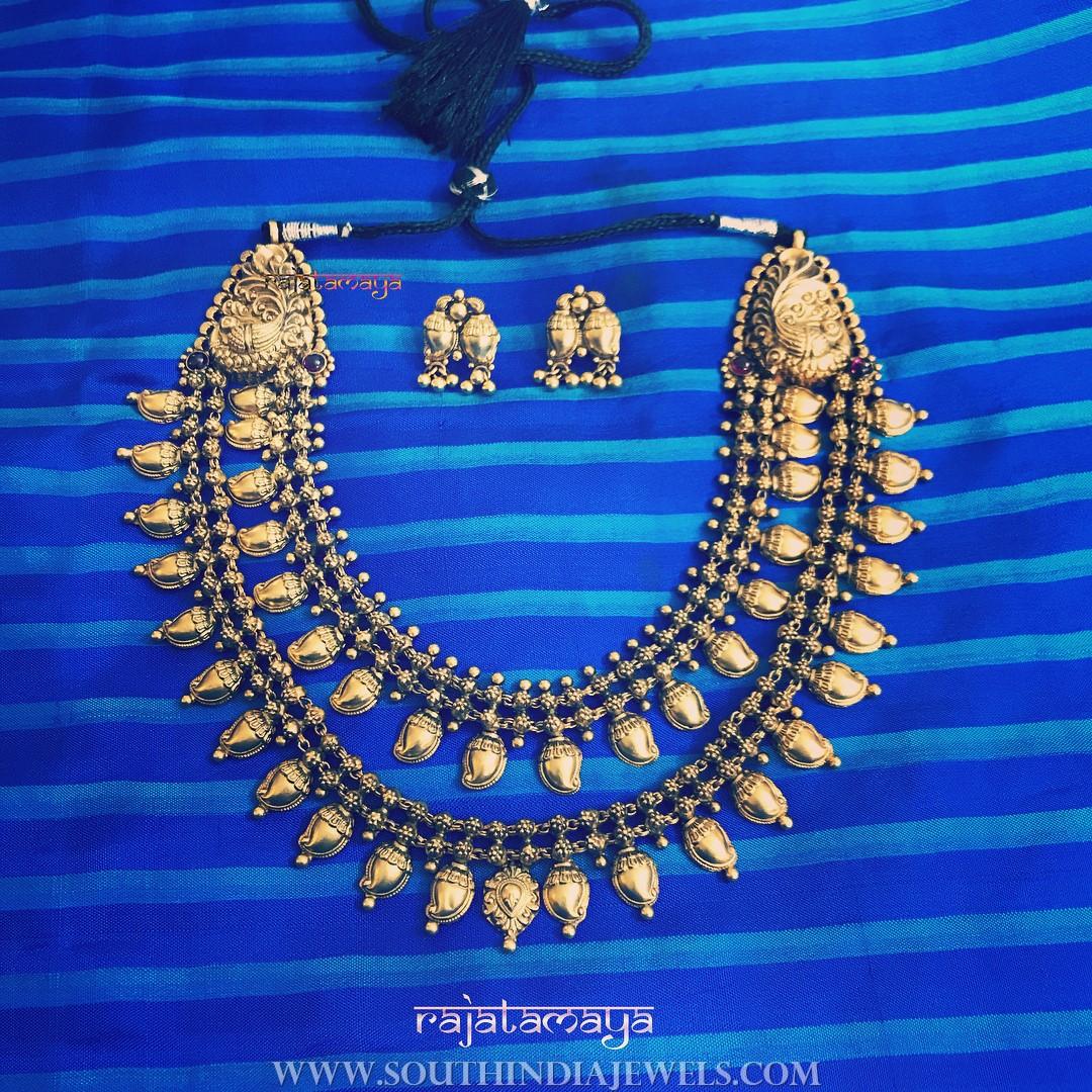 Oxidized Antique Step Necklace