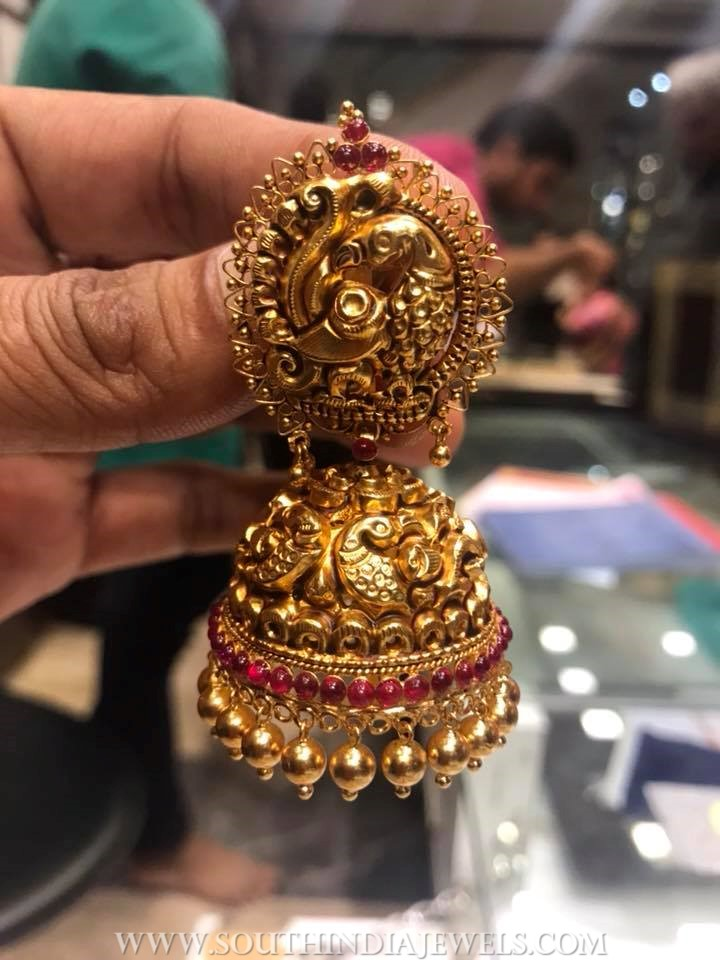 Bold Gold Antique Jhumka From PSJ