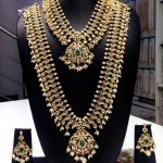 1 Gram Gold Bridal CZ Stone Jewellery Set