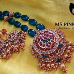 Gold Plated Emerald Mala From Ms Pink Panthers