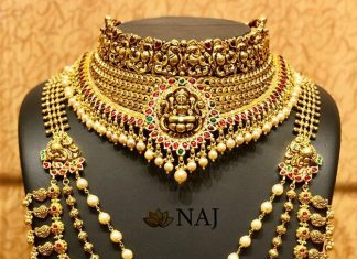 Gold Antique Bridal Lakshmi Set