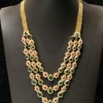 Gold Emerald Step Necklace From Mor Jewellers