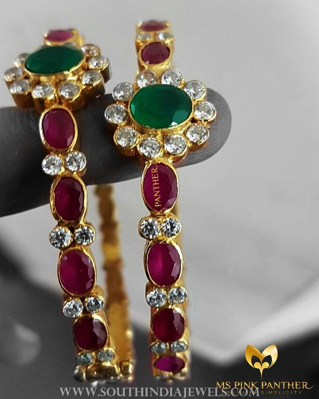 Gold Plated Pure Silver Antique Bangles From Ms Pink Panther