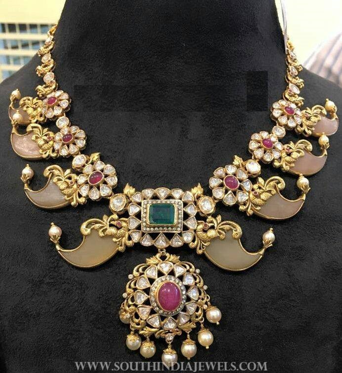 Gold Puligore Necklace From Anagha Jewellery