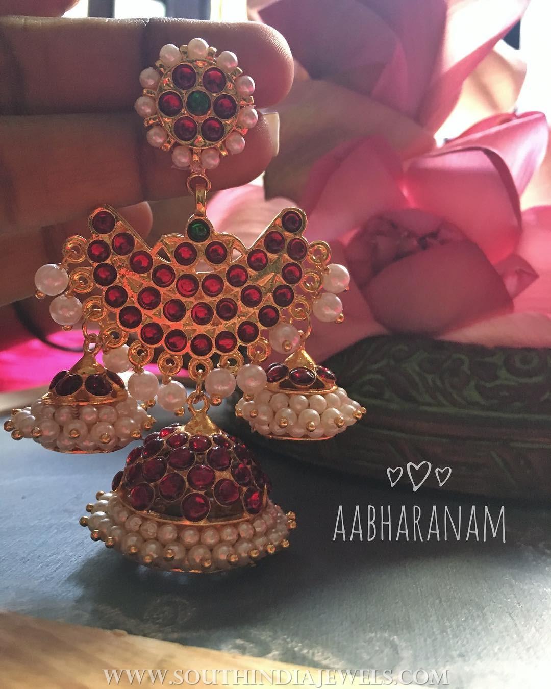 Latest Kemp Jhumka From Aabharanam