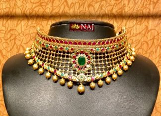 Light Weight Gold Designer Choker From NAJ