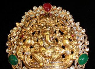 Gold Ganesh Pendant From Vijay Jewellers