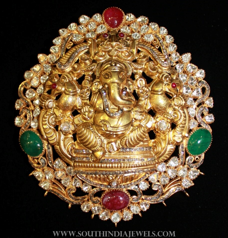 Gold Ganesh Pendant From Vijay Jewellers