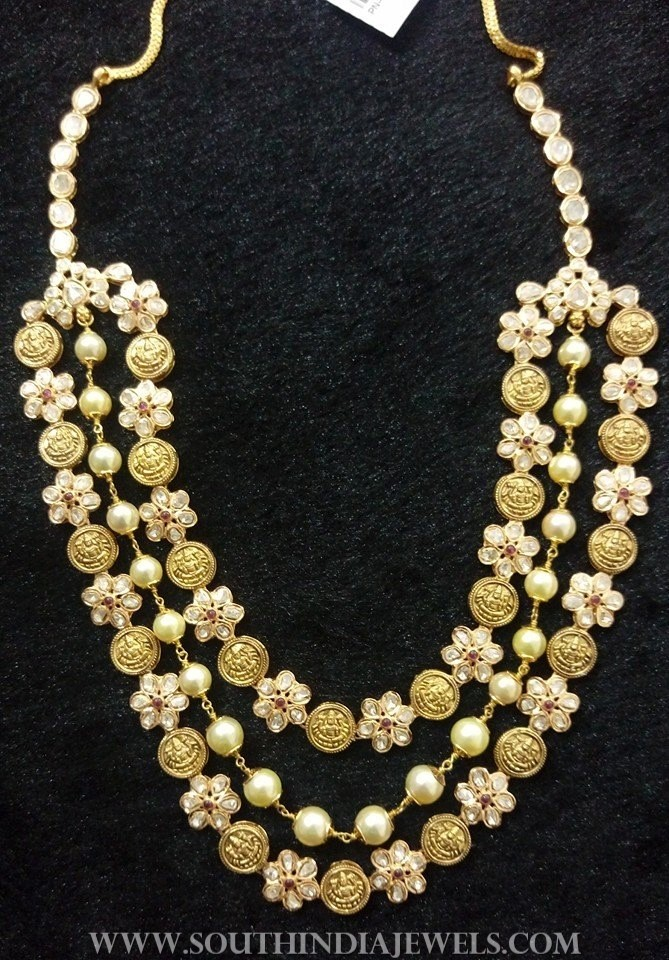 Multi Layer Gold Floral Necklace