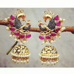 Imitation Peacock Jhumka From Orne Jewels