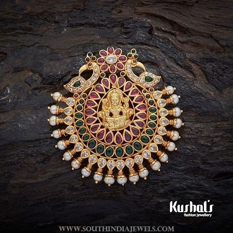 Traditional Gold Plated Lakshmi Pendant