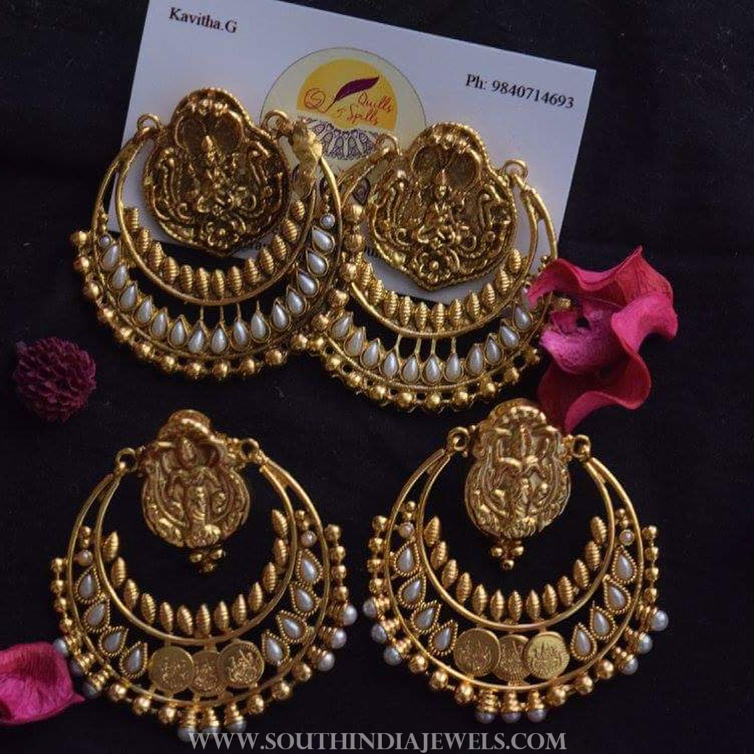 Big Imitation Chandbali Earrings