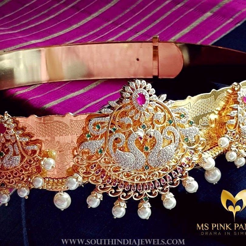 Bridal Peacock Vadanam From Ms Pink Panthers