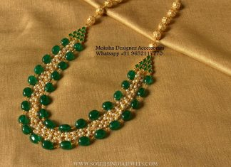 Imitation Emerald Pearl Necklace
