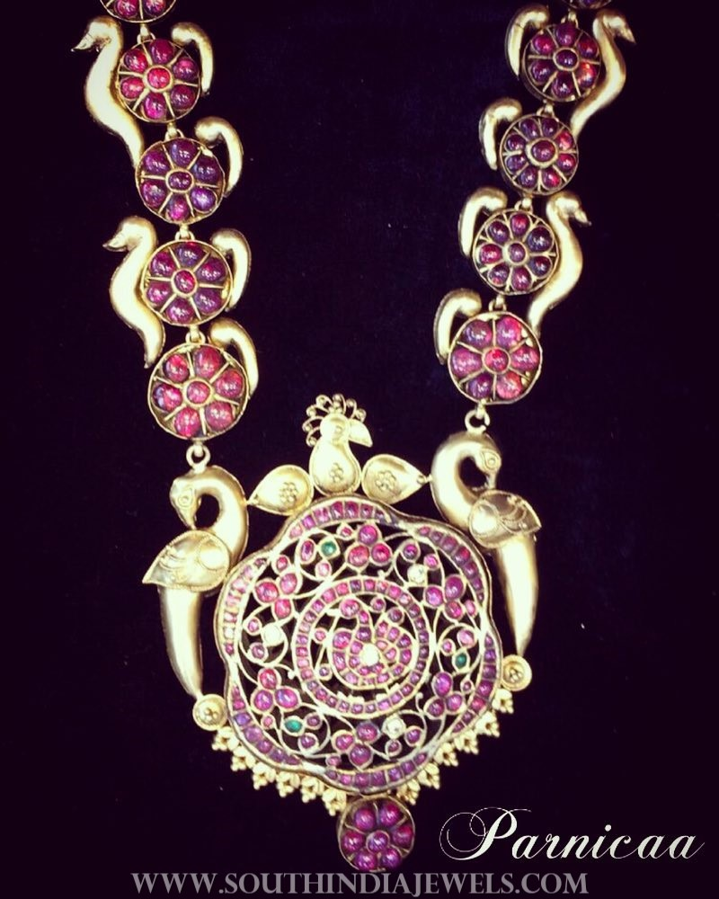 Gold Antique Ruby Necklace From Parnicaa