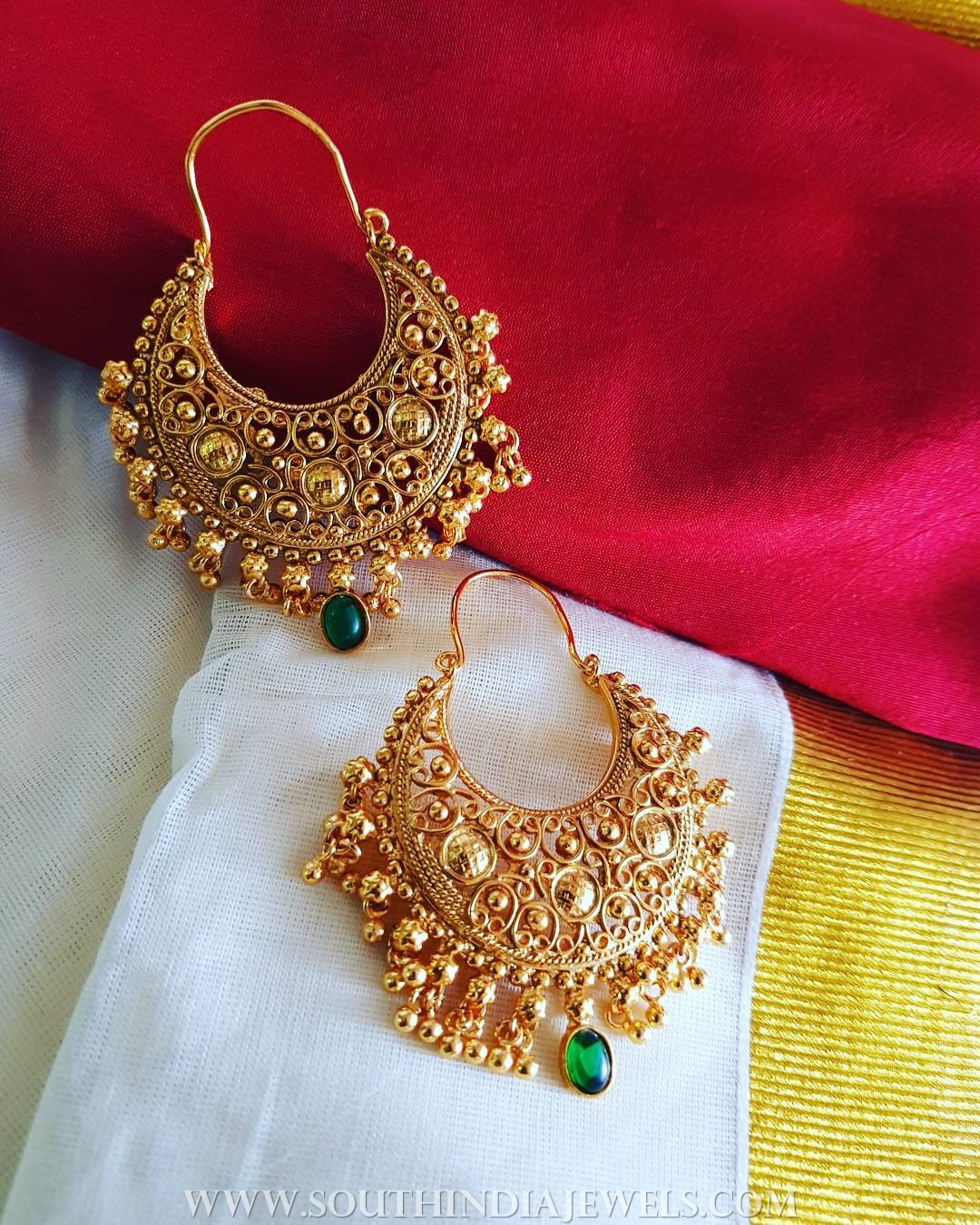 Gold Plated Hoop Earrings From Vasah