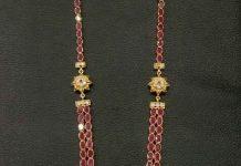 Gold Plated Ruby Haram From Parampariya