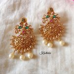 Pretty Gold Plated Earrings From Kruthika Jewellery