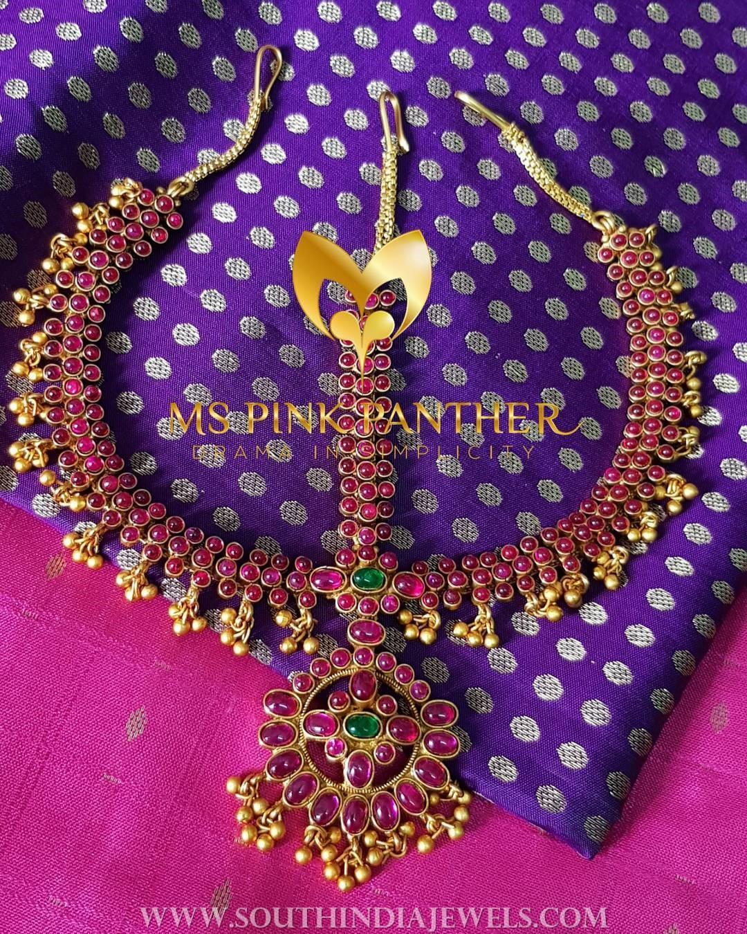 Bridal Ruby Head Ornament
