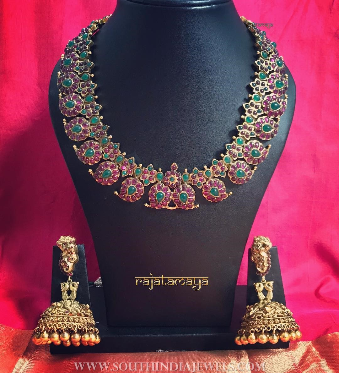 Ruby Mango Necklace From Rajatamaya