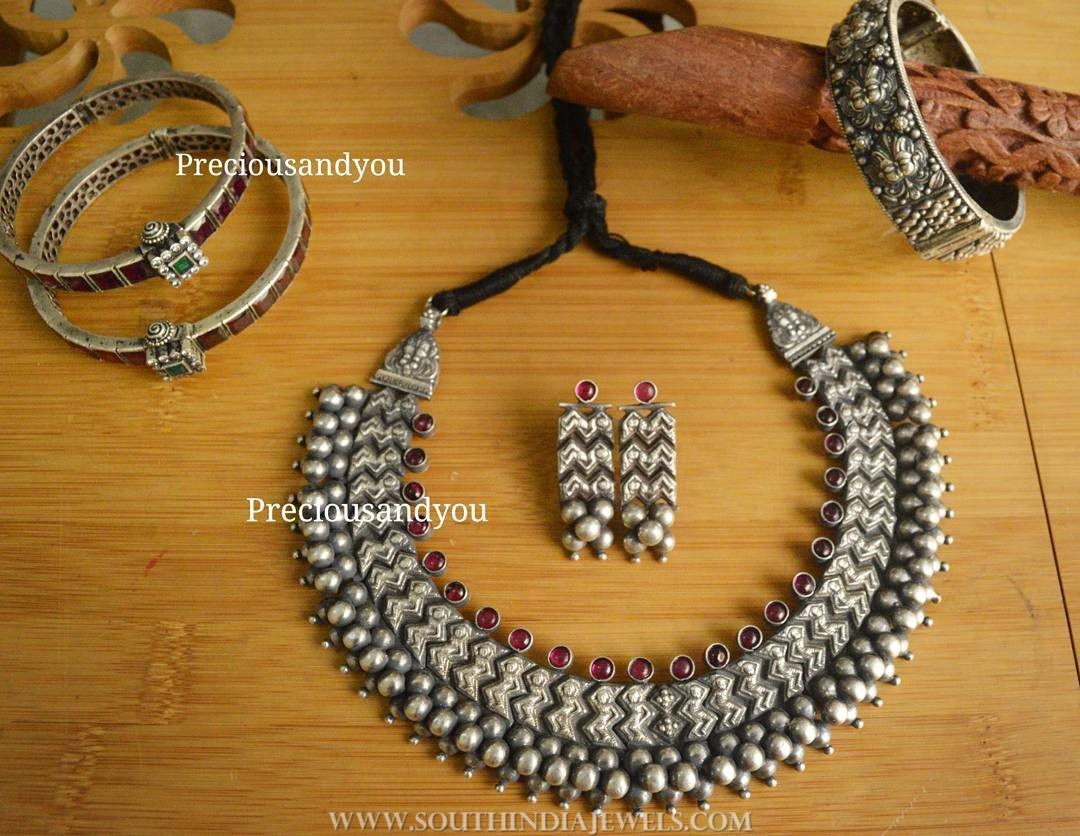 Pure Silver Choker Set From Precious & You