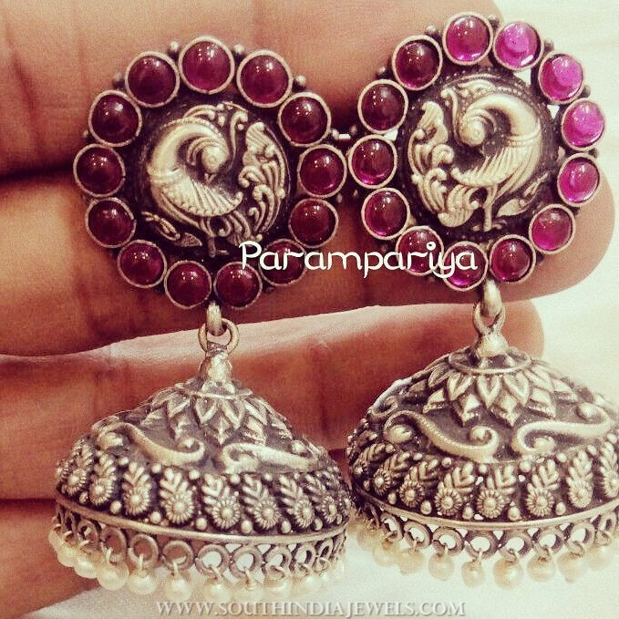 Antique Silver Jhumka From Parampariya