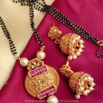 Imitation Black Beaded Mangalsutra Set