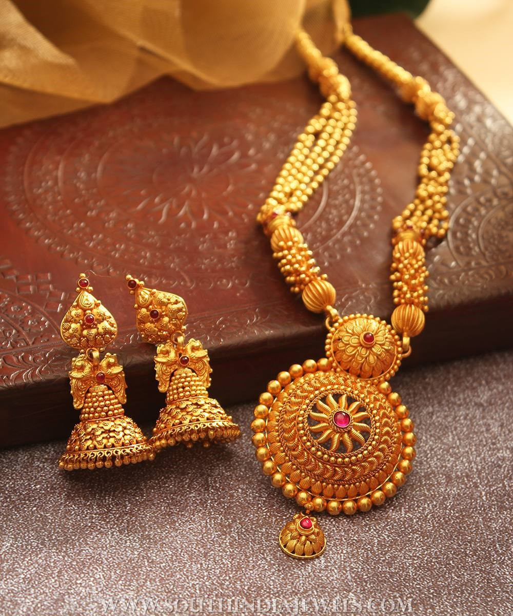 Bridal Haram & Jhumka From Manubhai Jewellers