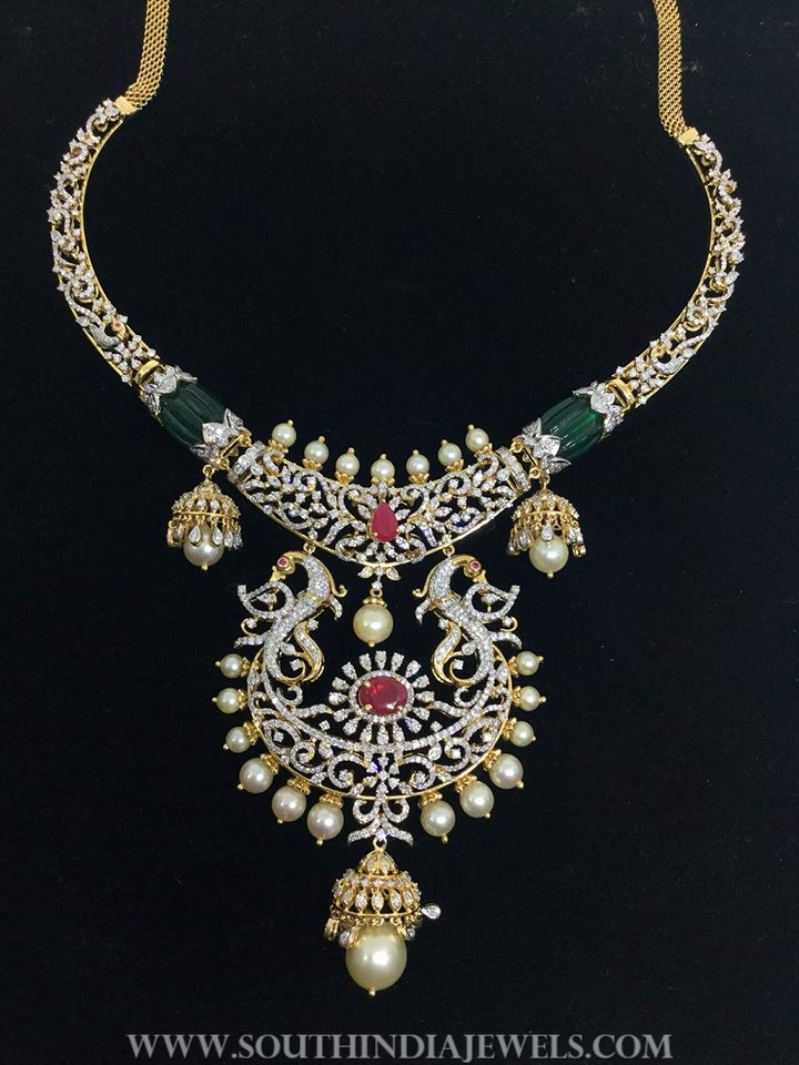Diamond Peacock Necklace From SBJ