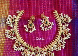 Guttapusalu Necklace Set From Kruthika Jewellery