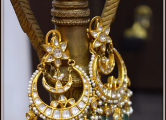 Gold Polki Earrings From Parnicaa