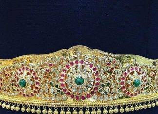 Gold Vadanam From P.Satyanarayan & Sons Jewellers