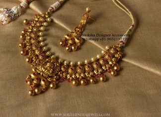 Latest Antique Lakshmi Choker & Earrings