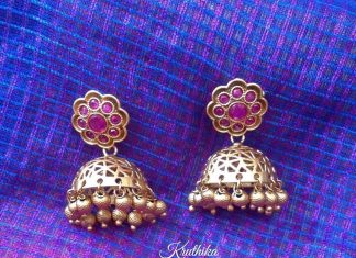 Matt Finish Simple Jhumka Design