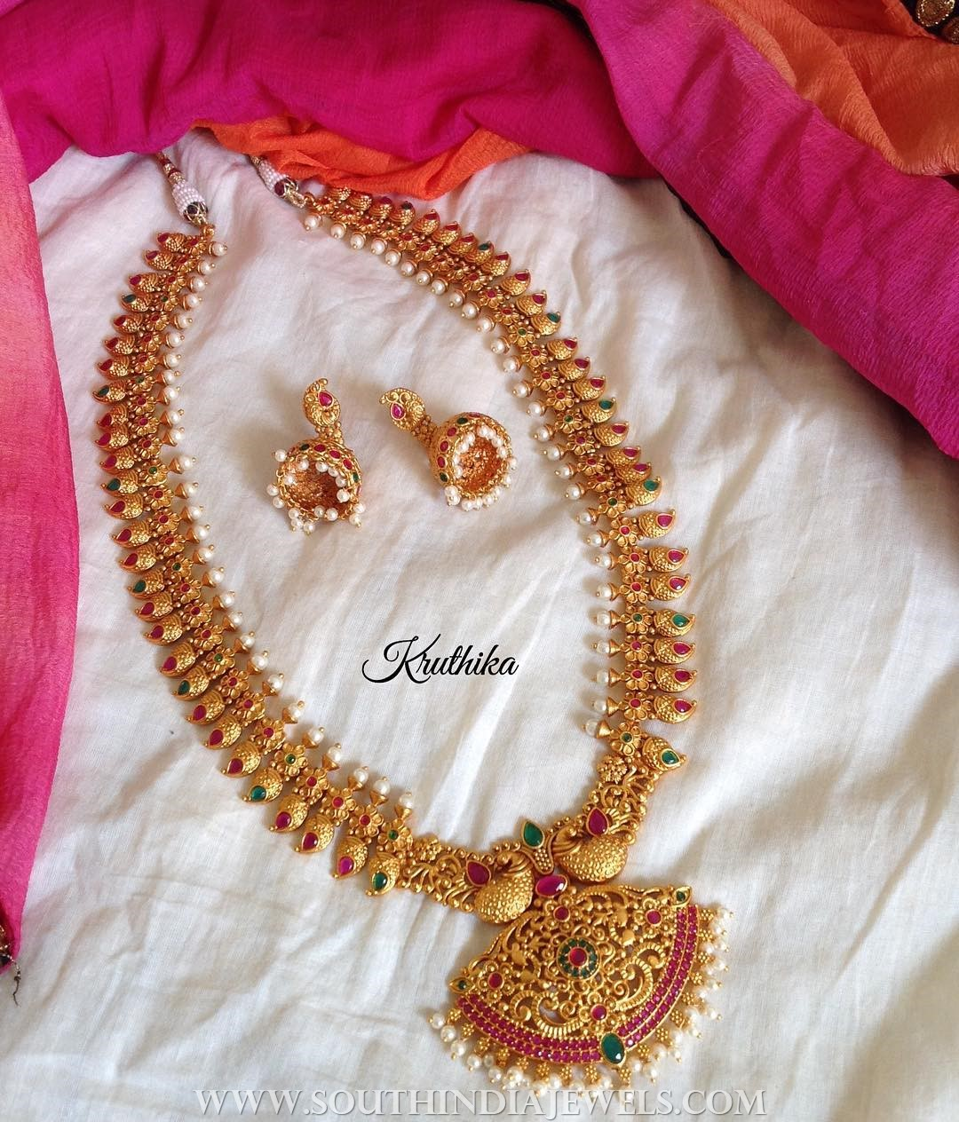 Matt Finish Haram From  Kruthika Jewellery