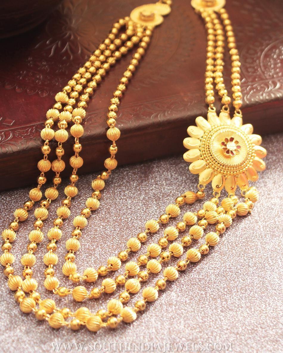 Plain Gold Ball Haram From Manubhai Jewellers