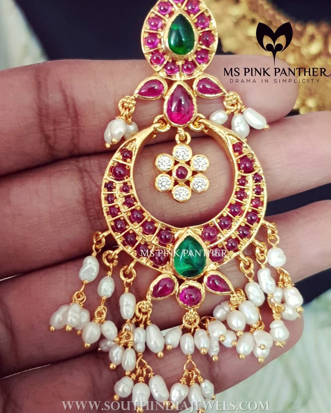 Gold Ruby Antique Earrings From Ms Pink Panther