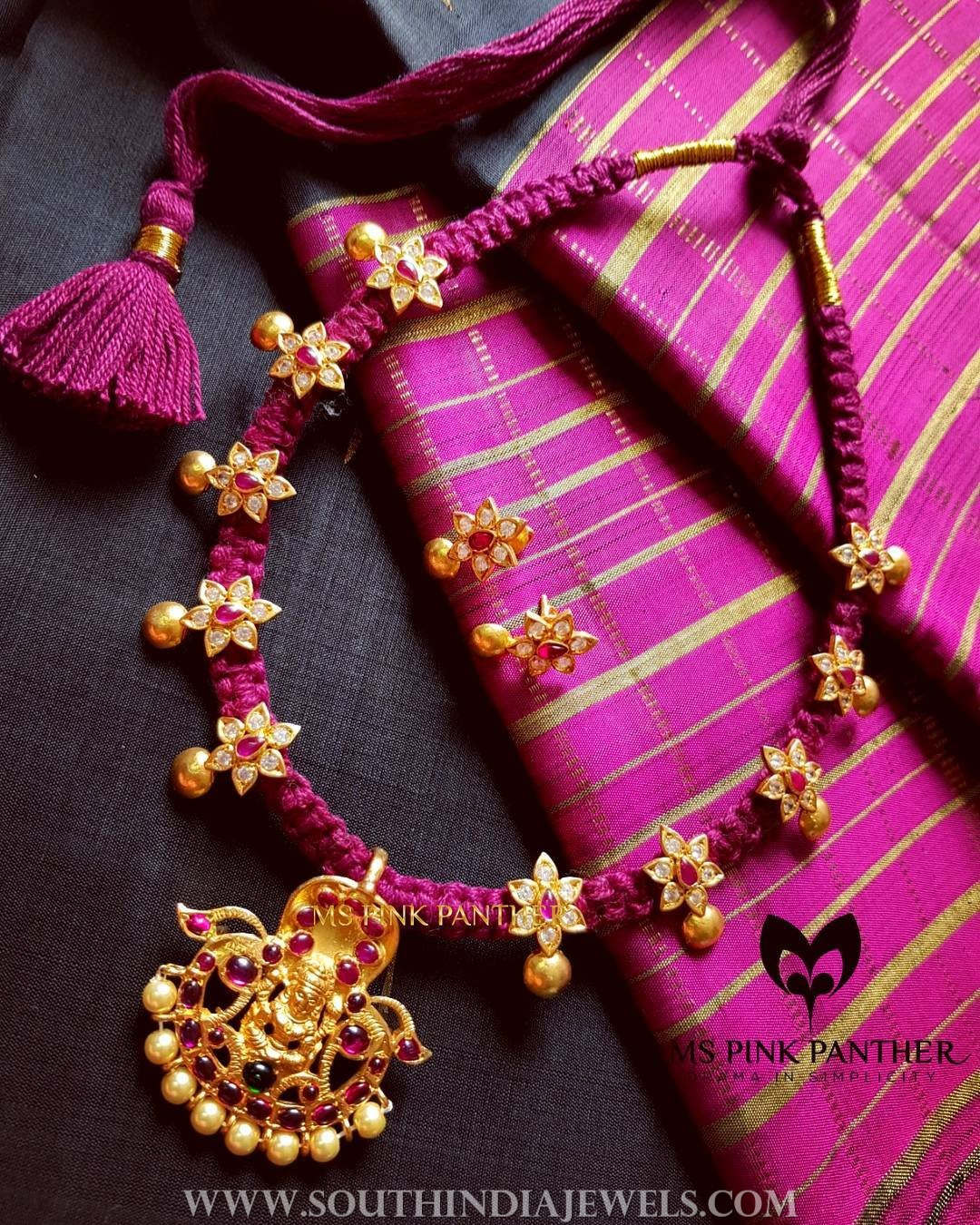Ruby Thread Necklace From Ms Pink Panther