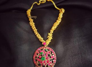 Short Antique Necklace From Rajatamaya