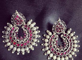 Silver Chandbali From Rajatamaya