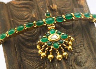 Traditional Emerald Attigai From Karpagam Jewellers