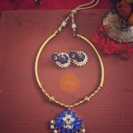 Blue Kemp Attigai Necklace Set