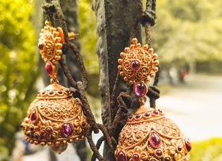 Antique Jhumka Design From Tarinika