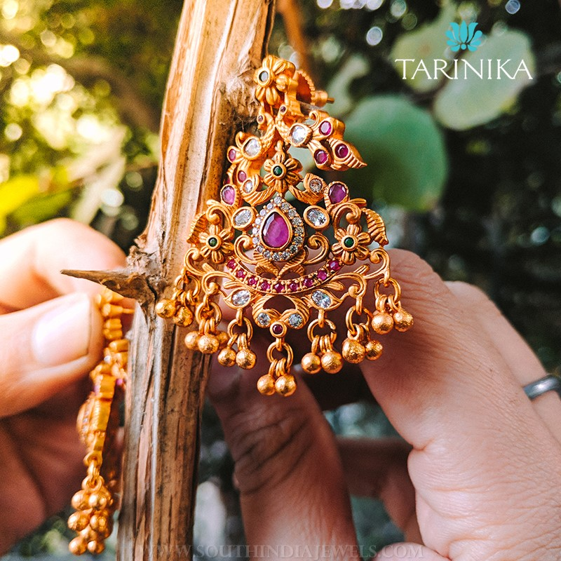 Gold Plated Antique Earrings From Tarinika